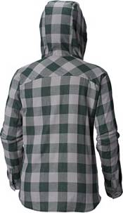 Columbia Women's Michigan State Spartans Green/Grey Times Two Long Sleeve Button Down Shirt product image