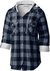 Columbia Women's West Virginia Mountaineers Blue/Grey Times Two Long Sleeve Button Down Shirt product image