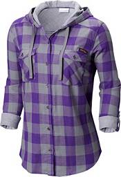 Columbia Women's LSU Tigers Purple/Grey Times Two Long Sleeve Shirt product image