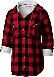 Columbia Women's Wisconsin Badgers Red/Black Times Two Long Sleeve Button Down Shirt product image