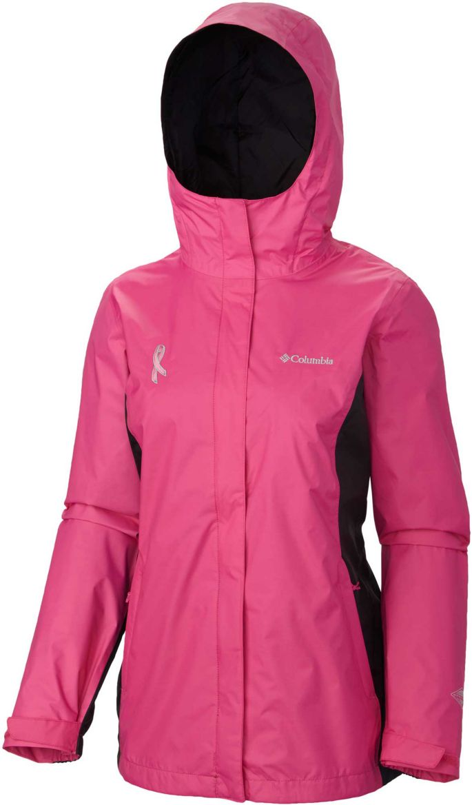 96d88bdb4 Columbia Women's Tested Tough In Pink II Rain Jacket