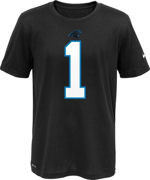 Nike Youth Carolina Panthers Cam Newton  1 Black T-Shirt  0c9696fd7
