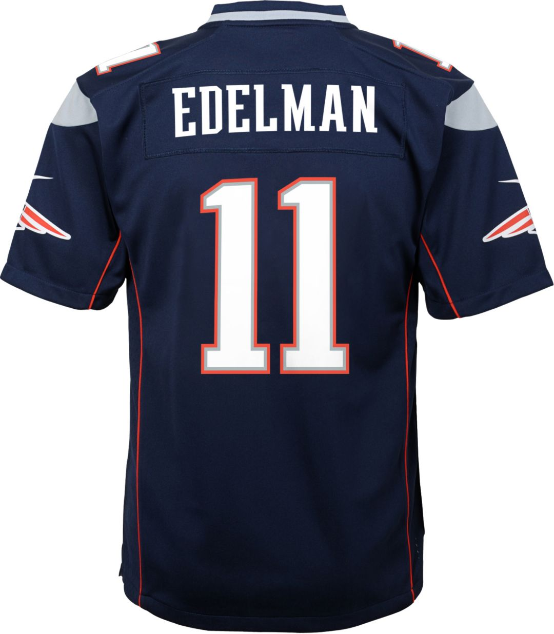 online store 2ca69 e3fd4 Nike Youth Home Game Jersey New England Patriots Julian Edelman #11