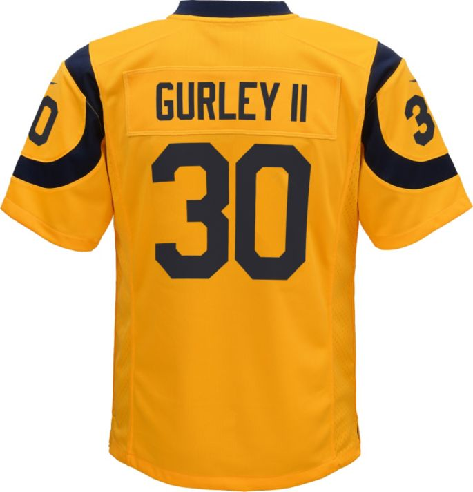 outlet store dd6f9 29aa9 Nike Youth Color Rush Game Jersey Los Angeles Rams Todd Gurley #30