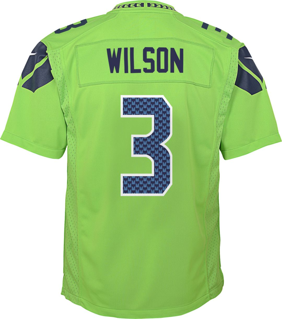 654c9e9d Nike Youth Color Rush Game Jersey Seattle Seahawks Russell Wilson #3