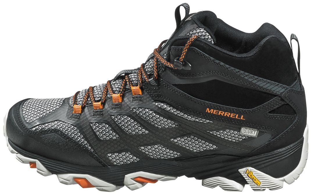 144303aca22 Merrell Men's Moab FST Mid Waterproof Hiking Boots