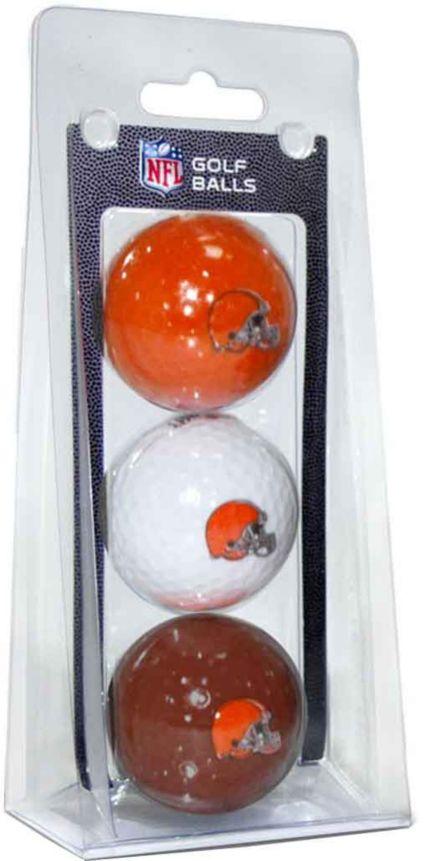 Team Golf Cleveland Browns Golf Balls - 3 Pack