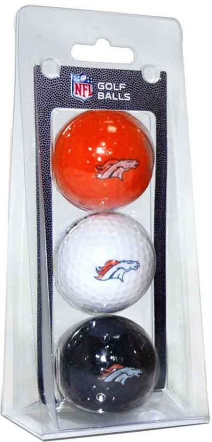 Team Golf Denver Broncos Golf Balls - 3 Pack