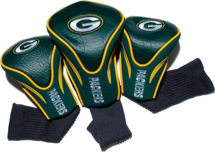 Team Golf Green Bay Packers Contour Sock Headcovers - 3 Pack