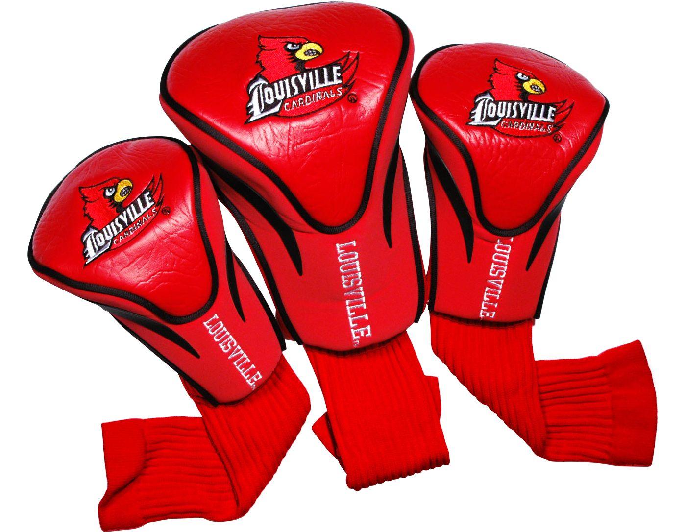 Team Golf Louisville Cardinals Contour Sock Headcovers - 3 Pack