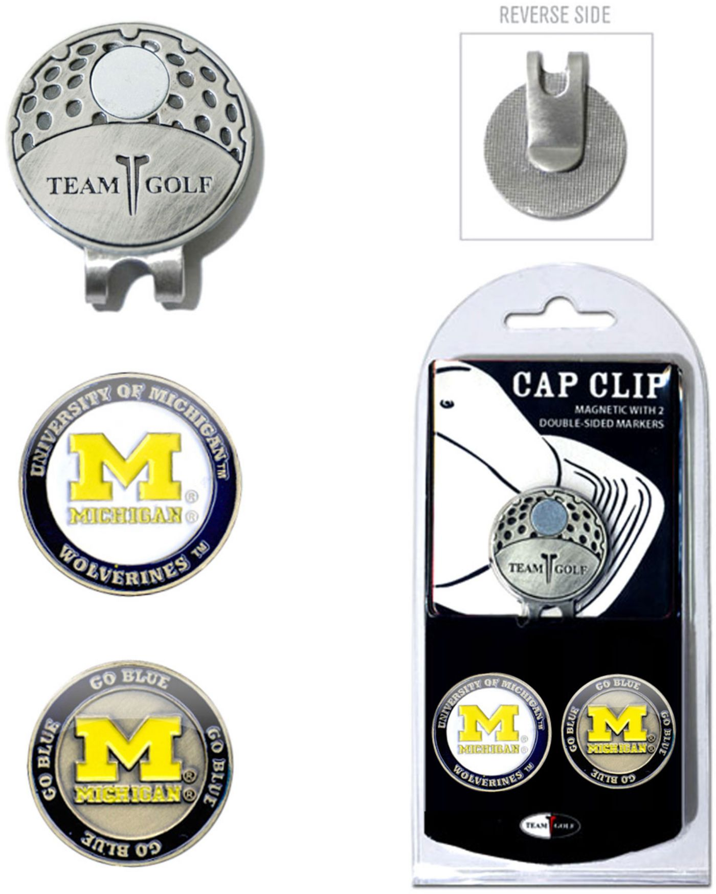 Team Golf Michigan Wolverines Cap Clip