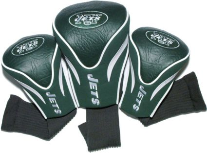 Team Golf New York Jets Contour Sock Headcovers - 3 Pack