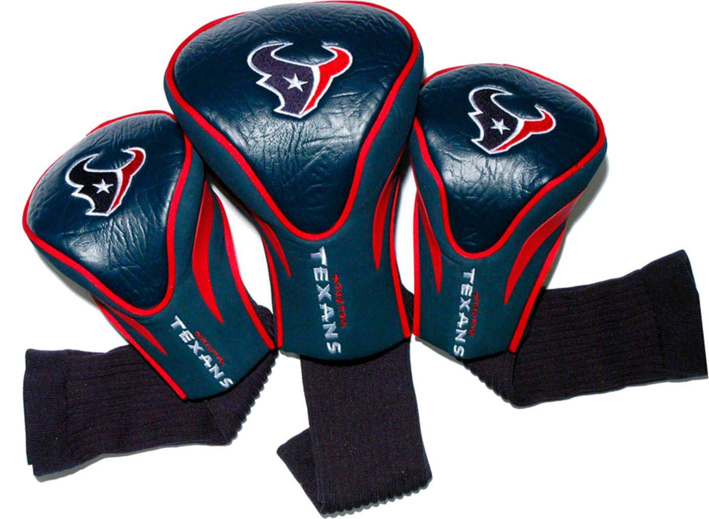 Team Golf Houston Texans Contour Sock Headcovers - 3 Pack