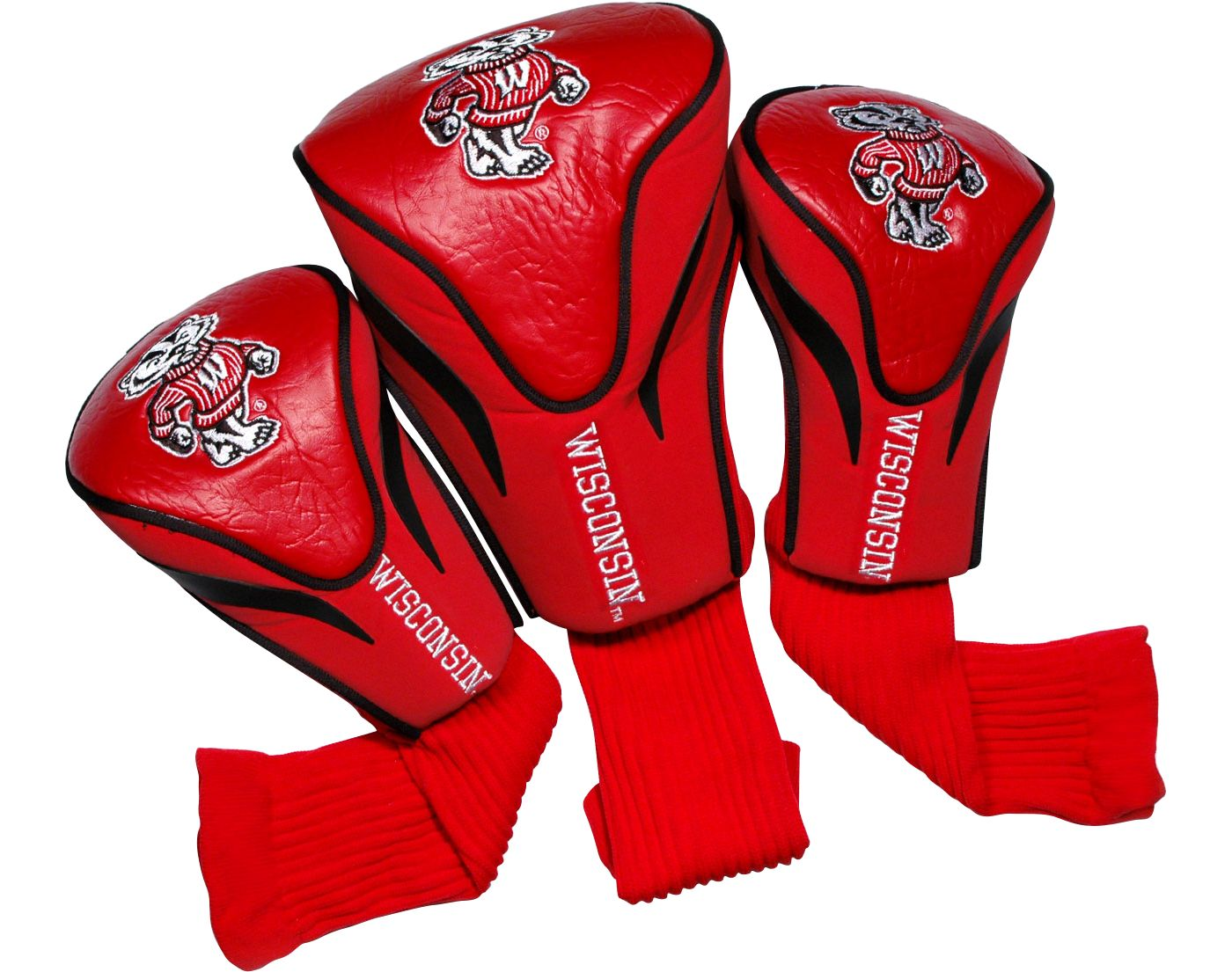 Team Golf Wisconsin Badgers Contour Sock Headcovers - 3 Pack