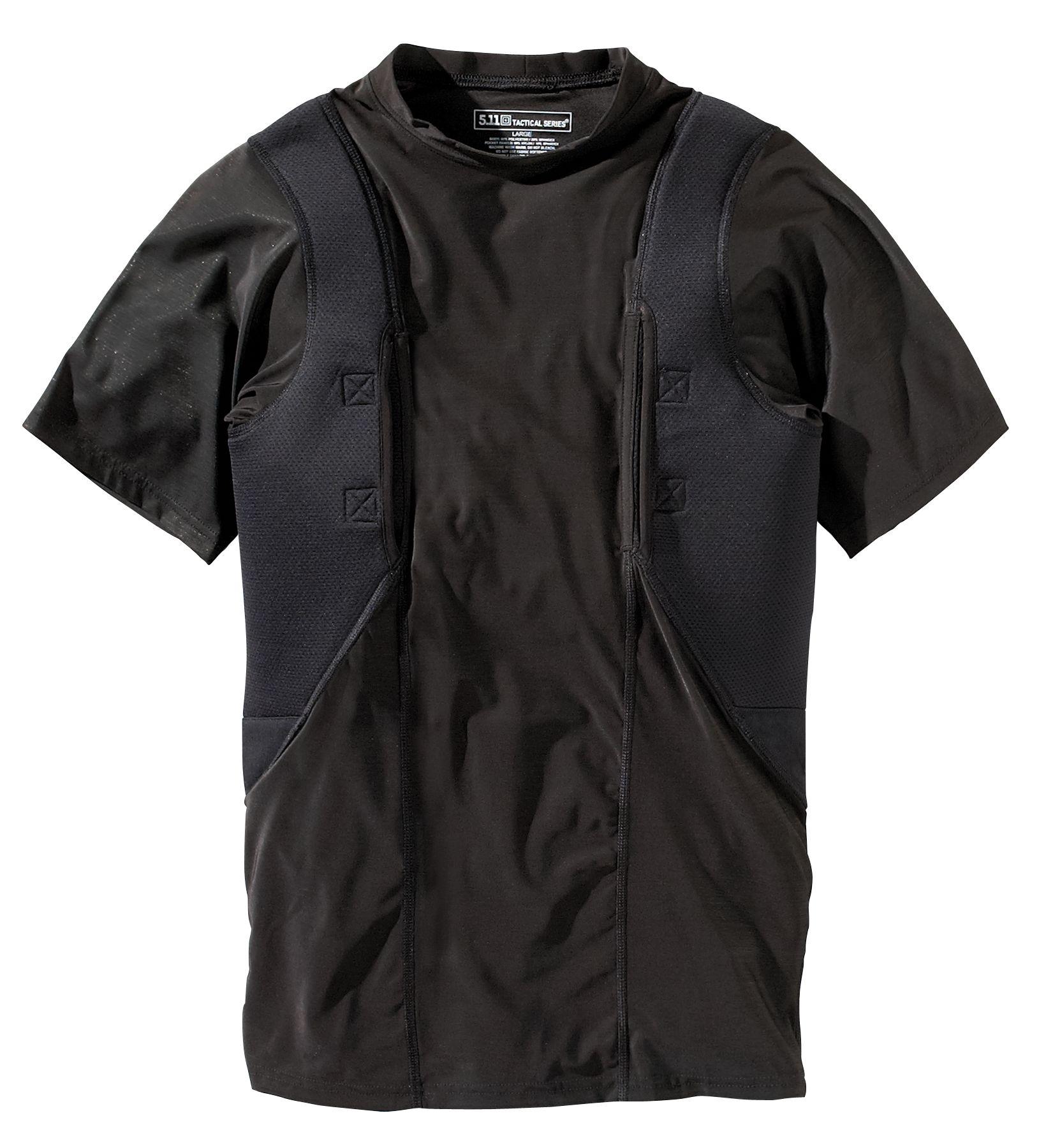 5.11 Tactical Men's Holster Shirt, Size: Medium, Black
