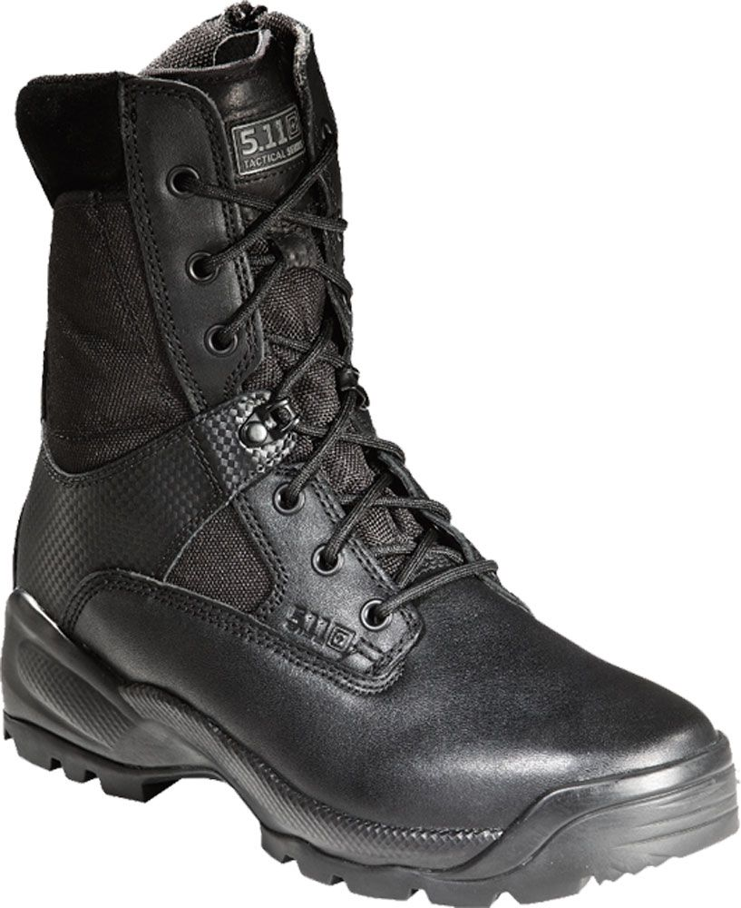 5.11 Tactical Men's A.T.A.C. 8'' Side Zip Tactical Boots, Size: 7.0 WIDE, Black thumbnail
