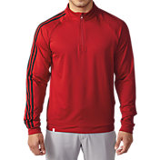 adidas Men's 3-Stripes Quarter-Zip Golf Pullover