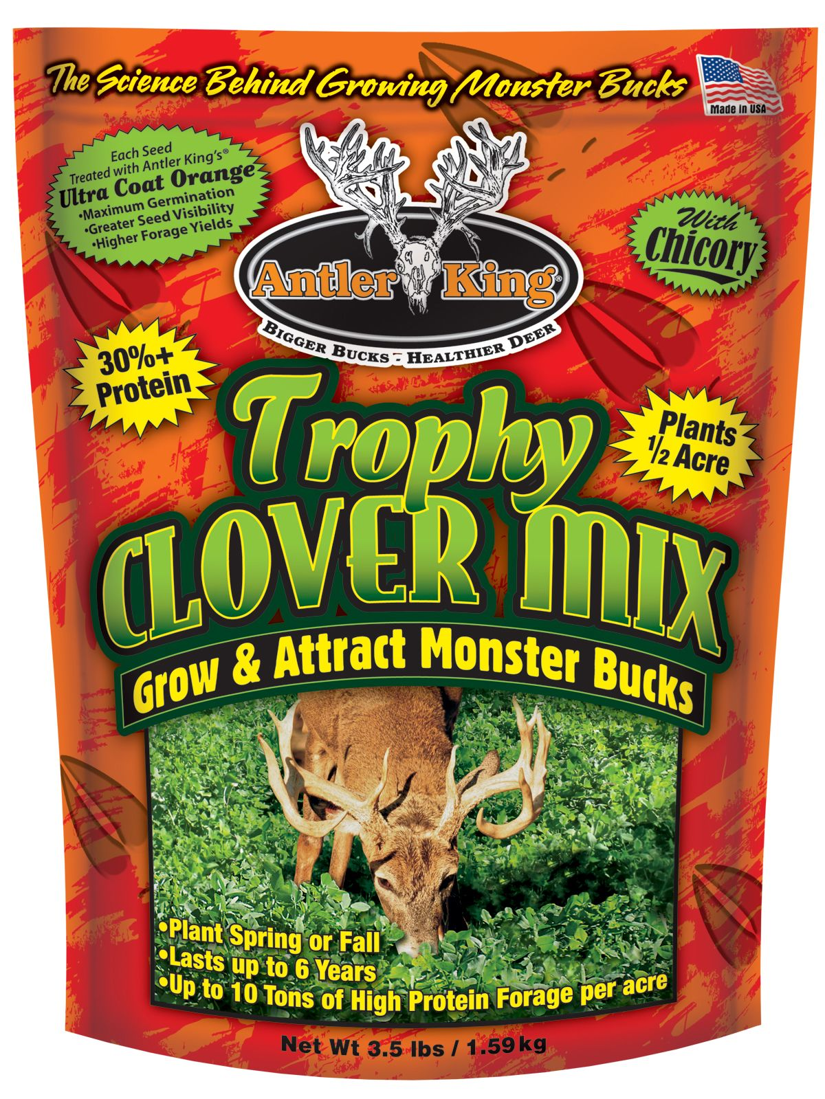 Antler King Trophy Clover Mix Food Plot Seed thumbnail