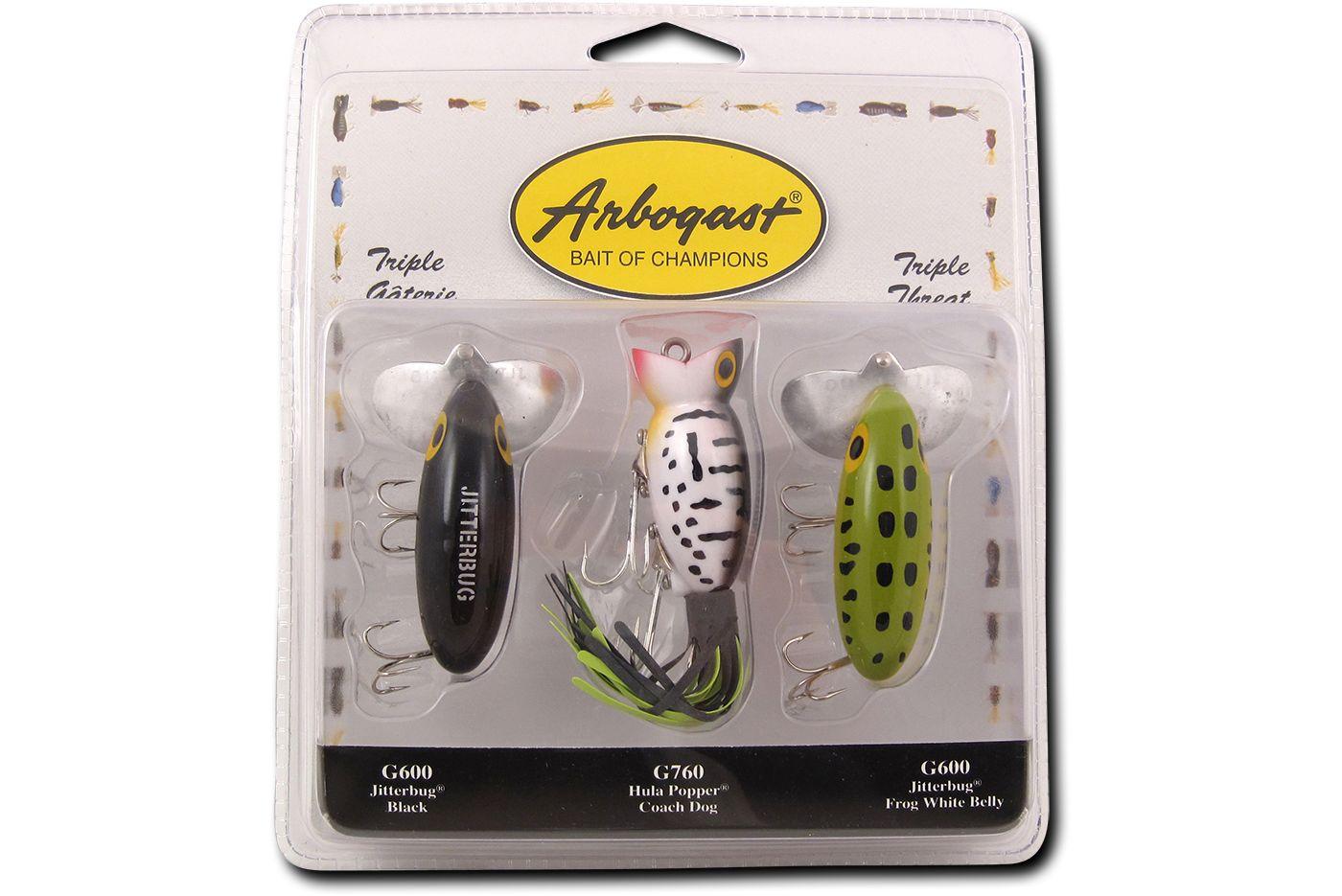 Arbogast Triple Threat Jitterbug/Hula Popper Kit
