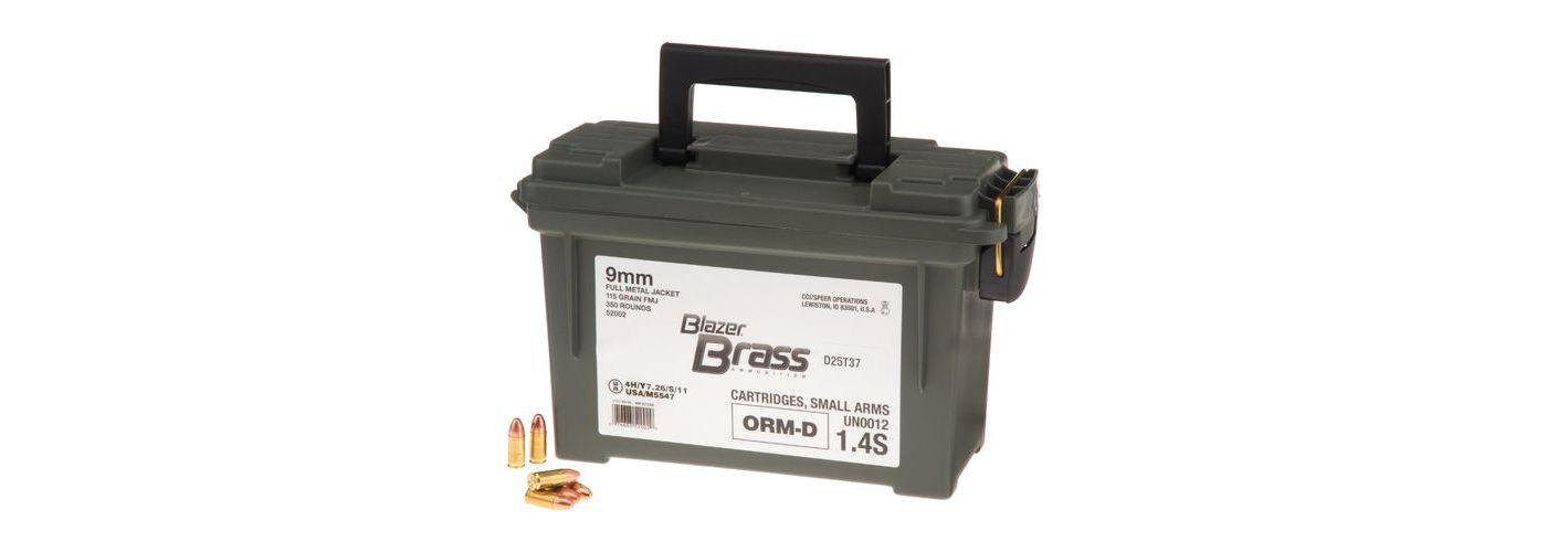 CCI 9MM Blazer Brass Handgun Ammo – 350 Rounds