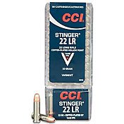 CCI Stinger .22 LR Copper Plated Hollow Point Rifle Ammunition – 32 Grain