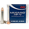 CCI Maxi-Mag HP + V .22 Win Mag Jacketed Hollow Point Rifle Ammunition – 30 Grain