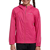 Columbia Girls' Switchback Rain Jacket in Pink Ice