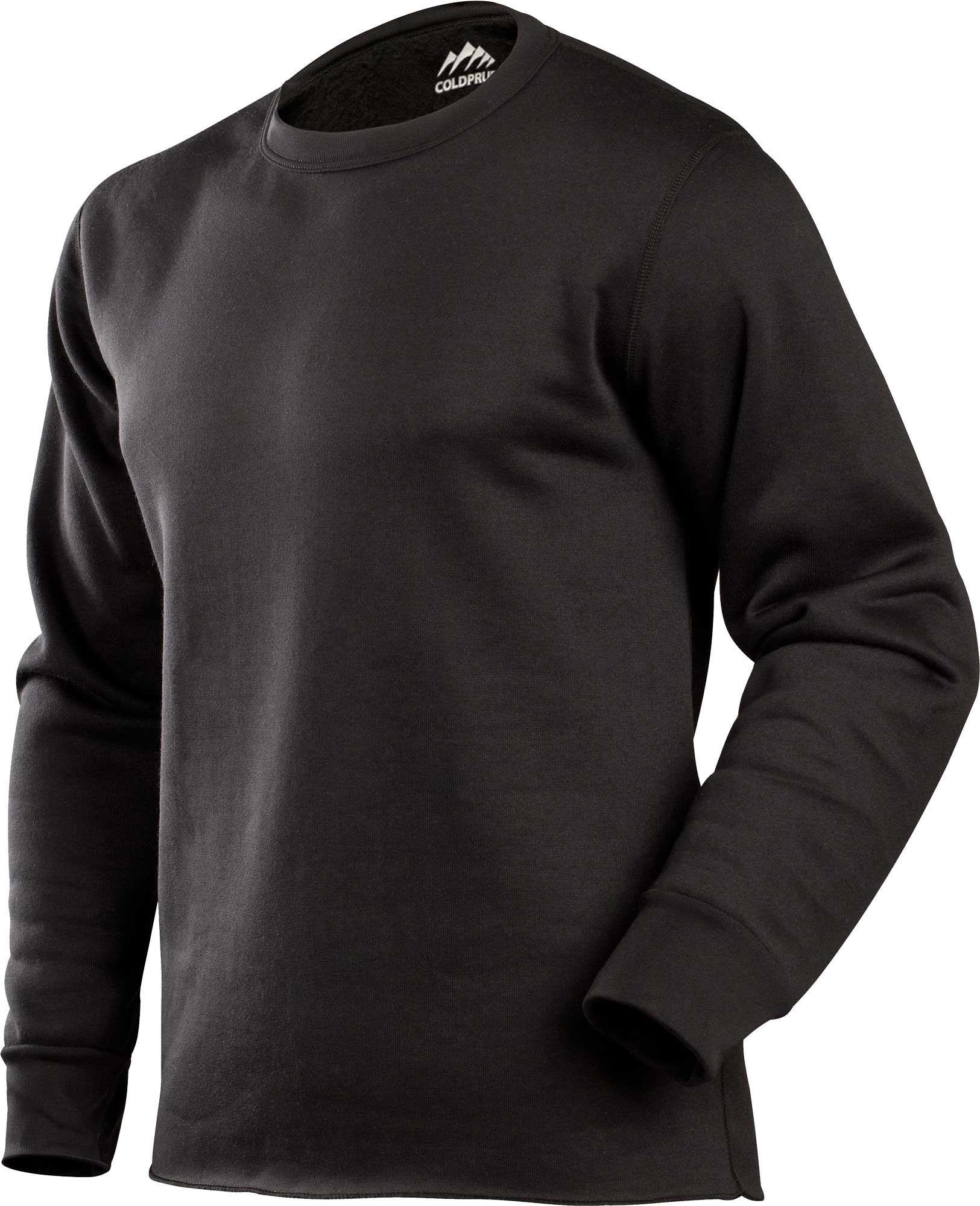ColdPruf Men's Expedition Long Sleeve Crew Base Layer Shirt (Regular and Big & Tall), Size: Small, Black