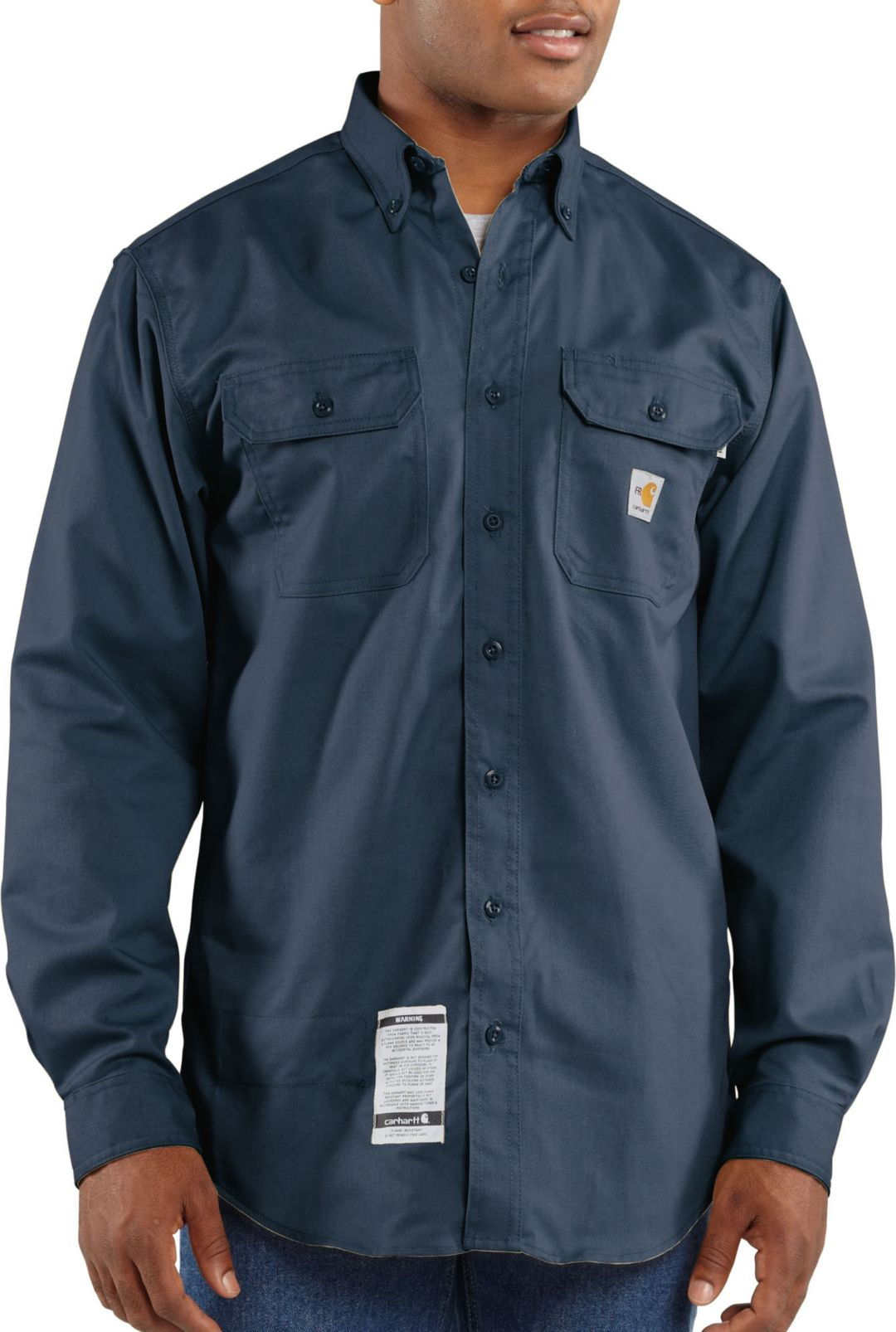 8ebdf4ceebd6 Carhartt Men's Flame Resistant Twill Long Sleeve Work Shirt | DICK'S ...