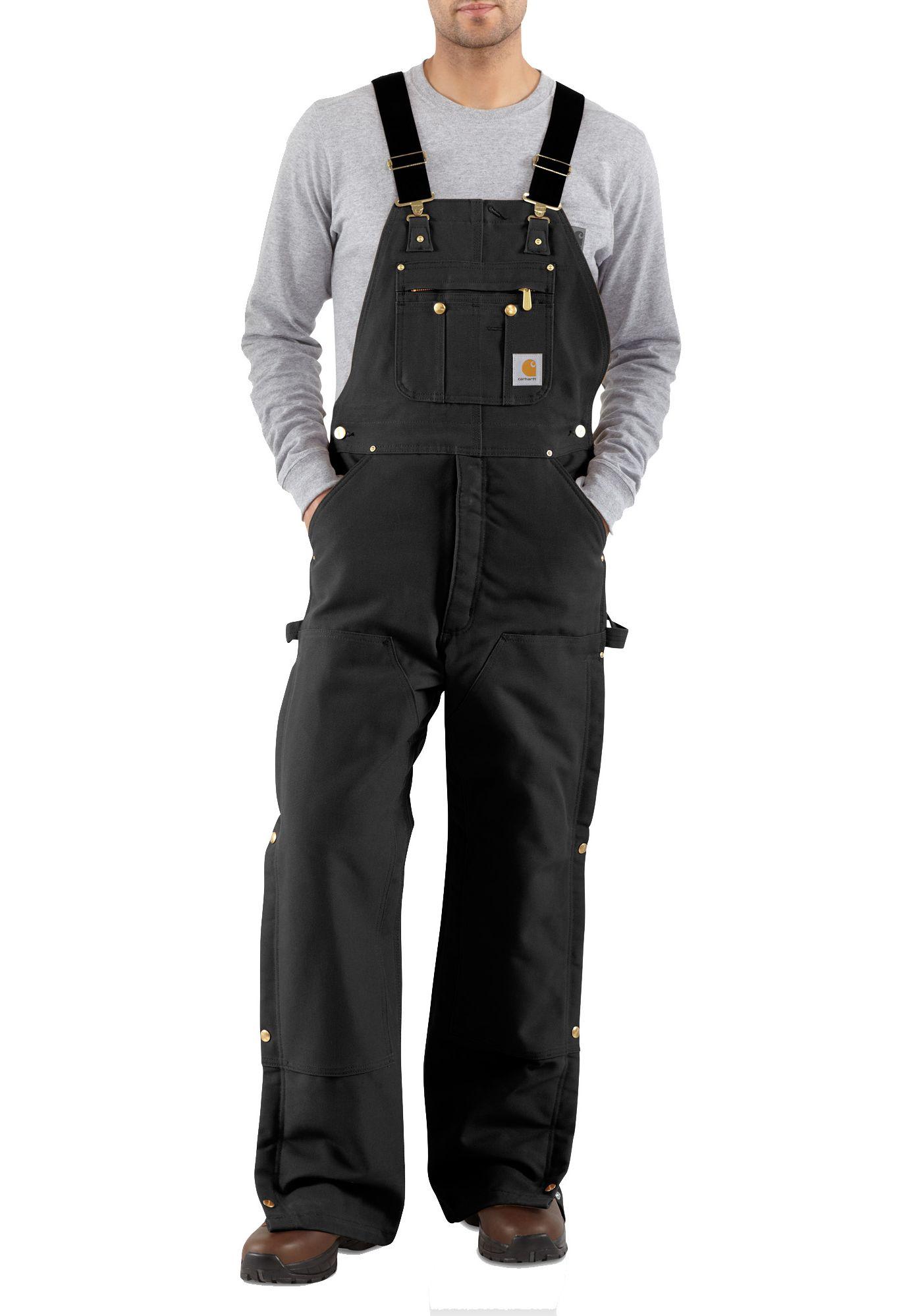 Carhartt Men's Zip-To-Thigh Quilt Lined Duck Bibs (Regular and Big & Tall)