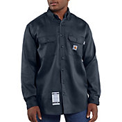 Carhartt Men's Flame Resistant Work-Dry Twill Long Sleeve Work Shirt (Regular and Big & Tall)