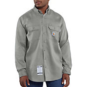 Carhartt Men's Flame Resistant Work-Dry Twill Long Sleeve Work Shirt