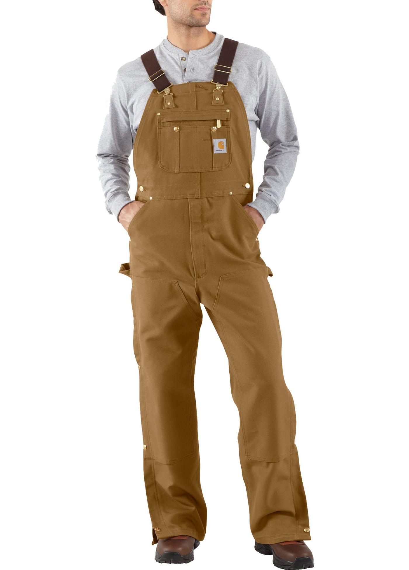Carhartt Men's Unlined Zip-To-Thigh Duck Bibs