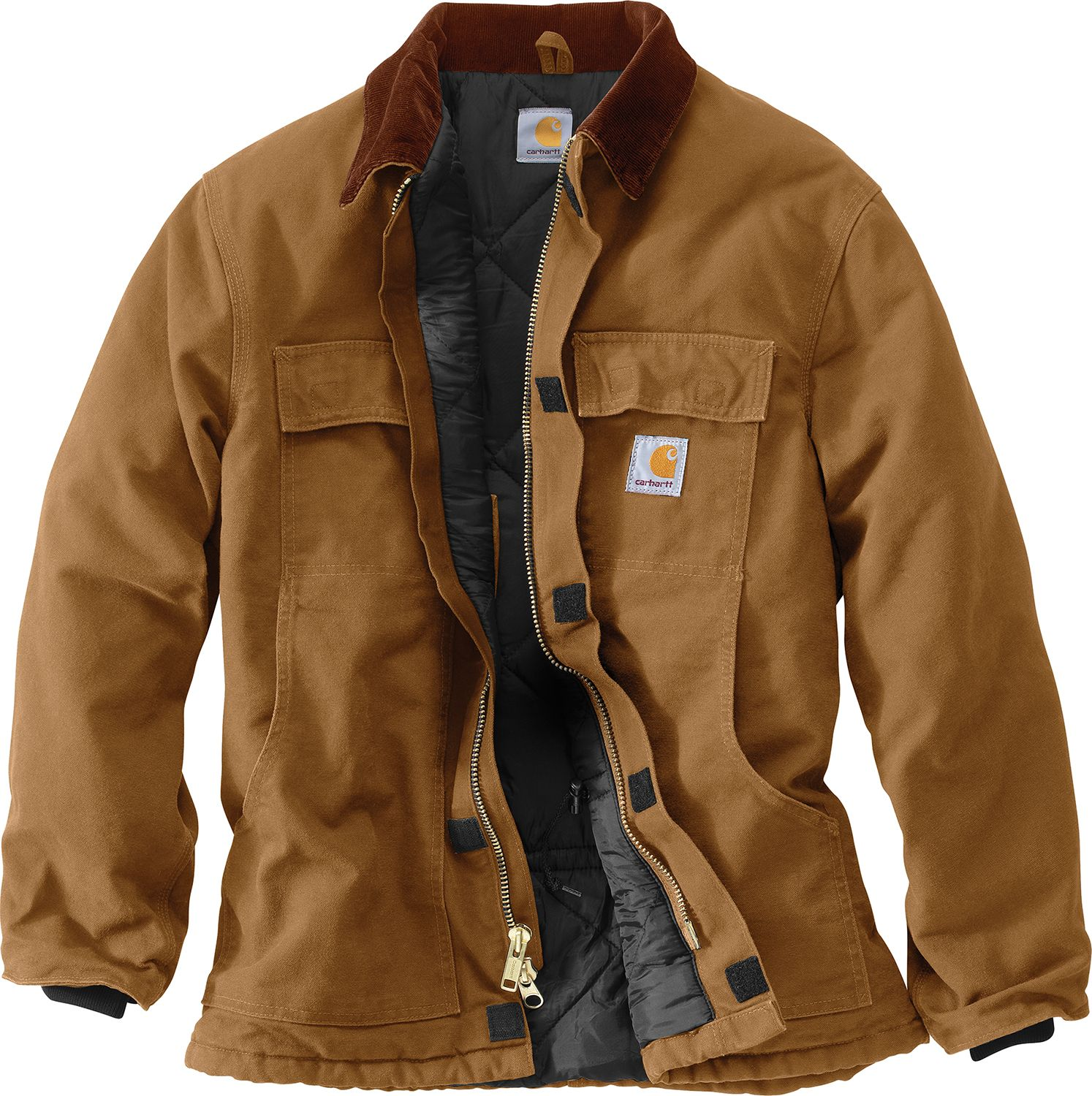 Carhartt Mens Traditional Arctic Quilt Lined Duck Coat Dicks