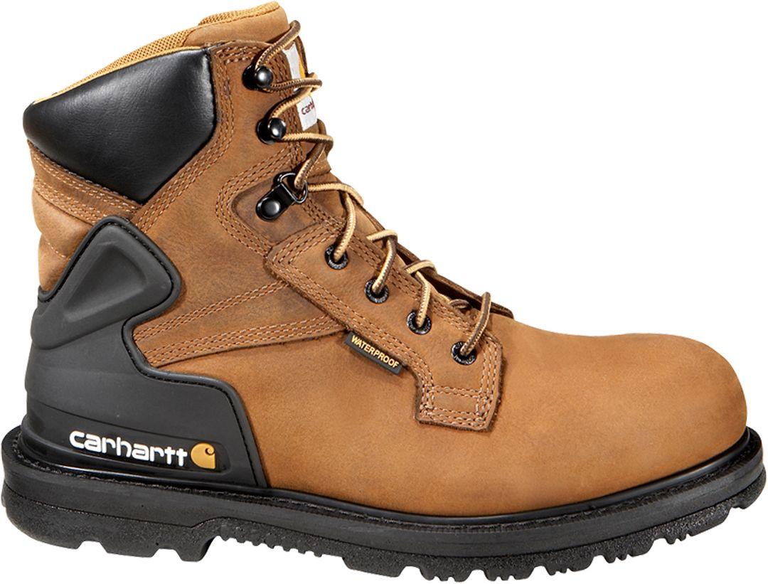 4b72d324404 Carhartt Men's Bison 6'' Safety Toe Waterproof Work Boots