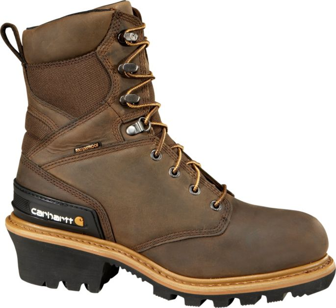 969dd62df86 Carhartt Men's Logger 8'' Waterproof 400g Composite Toe Work Boots