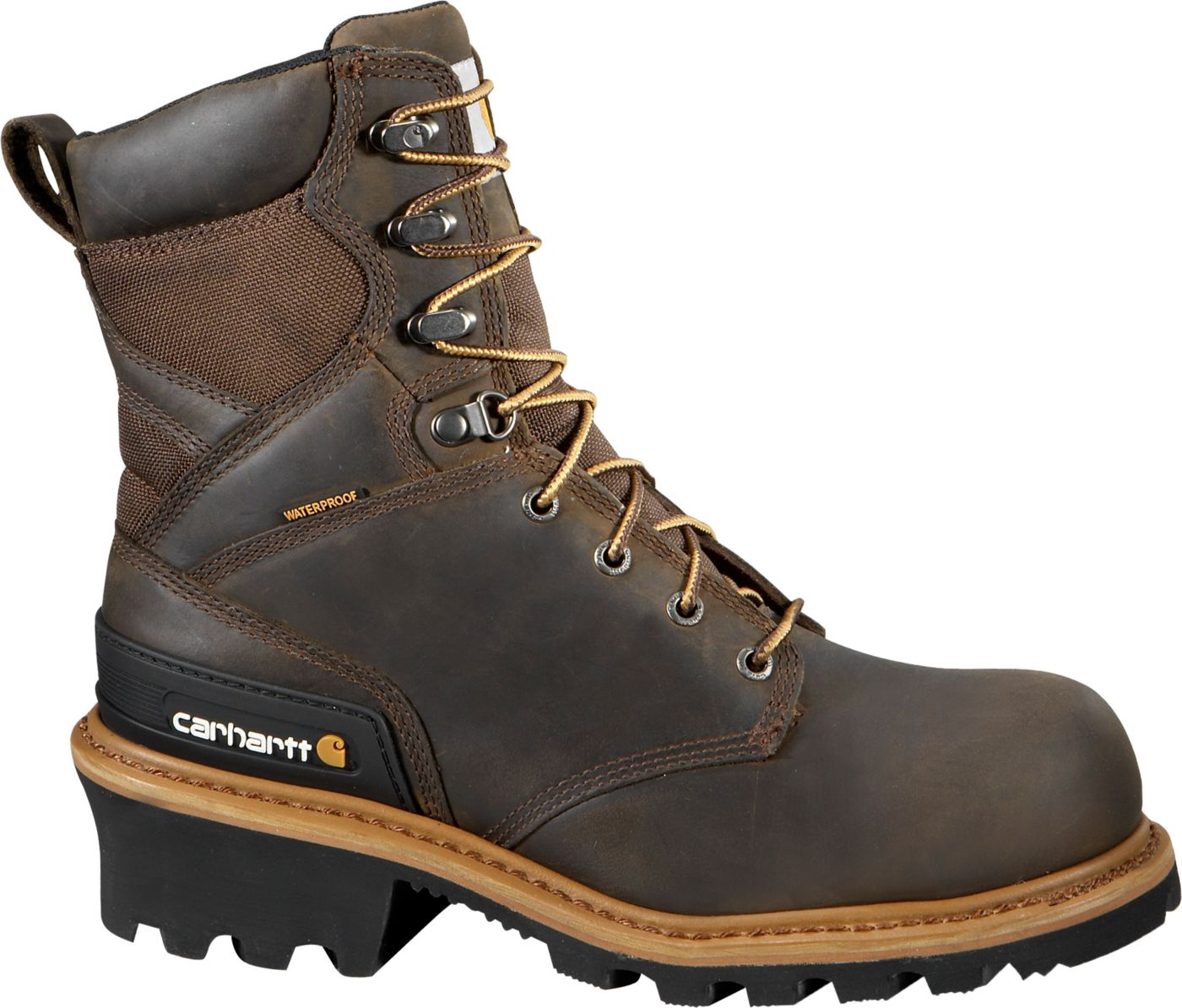 "Carhartt Men's Logger 8"" Waterproof Composite Toe Work Boots"