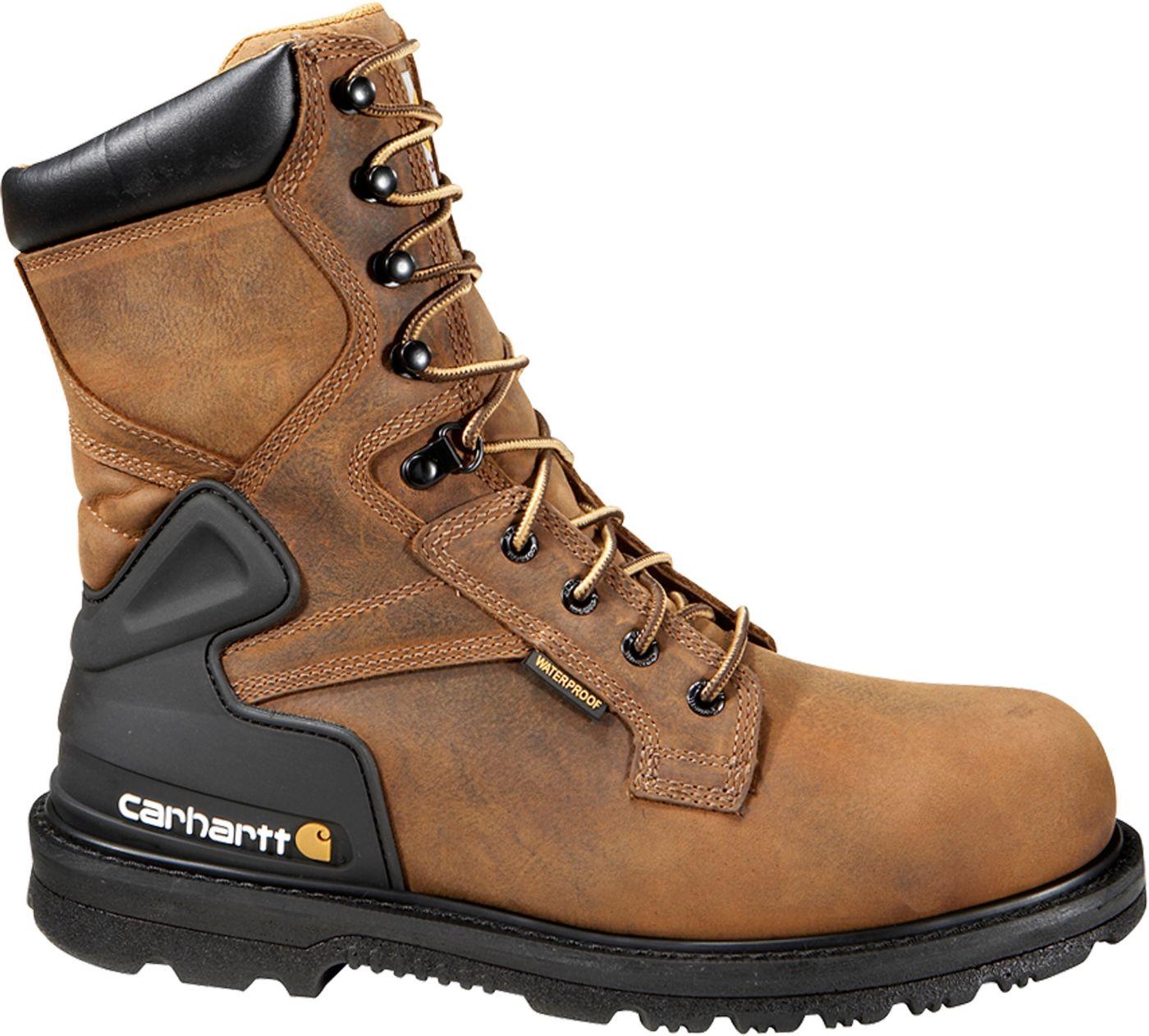 "Carhartt Men's Bison 8"" Safety Toe Waterproof Work Boots"