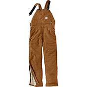Carhartt Men's Duck Flame Resistant Quilted Bib Overalls