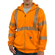 Carhartt Men's High-Visibility Zip-Front Class 3 Sweatshirt (Regular and Big & Tall)