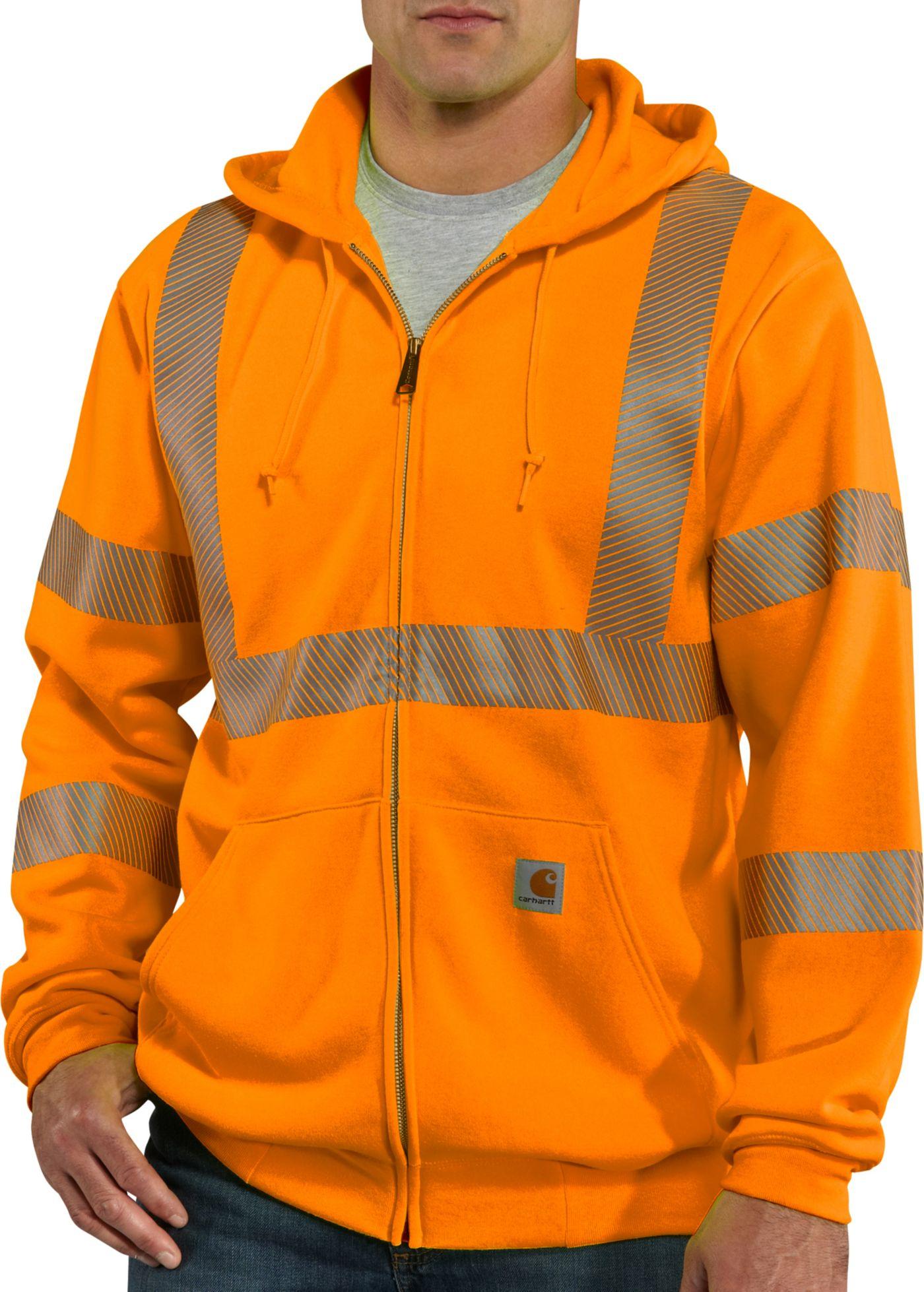 Carhartt Men's High-Visibility Zip-Front Class 3 Sweatshirt (Regular and Big & Tall)
