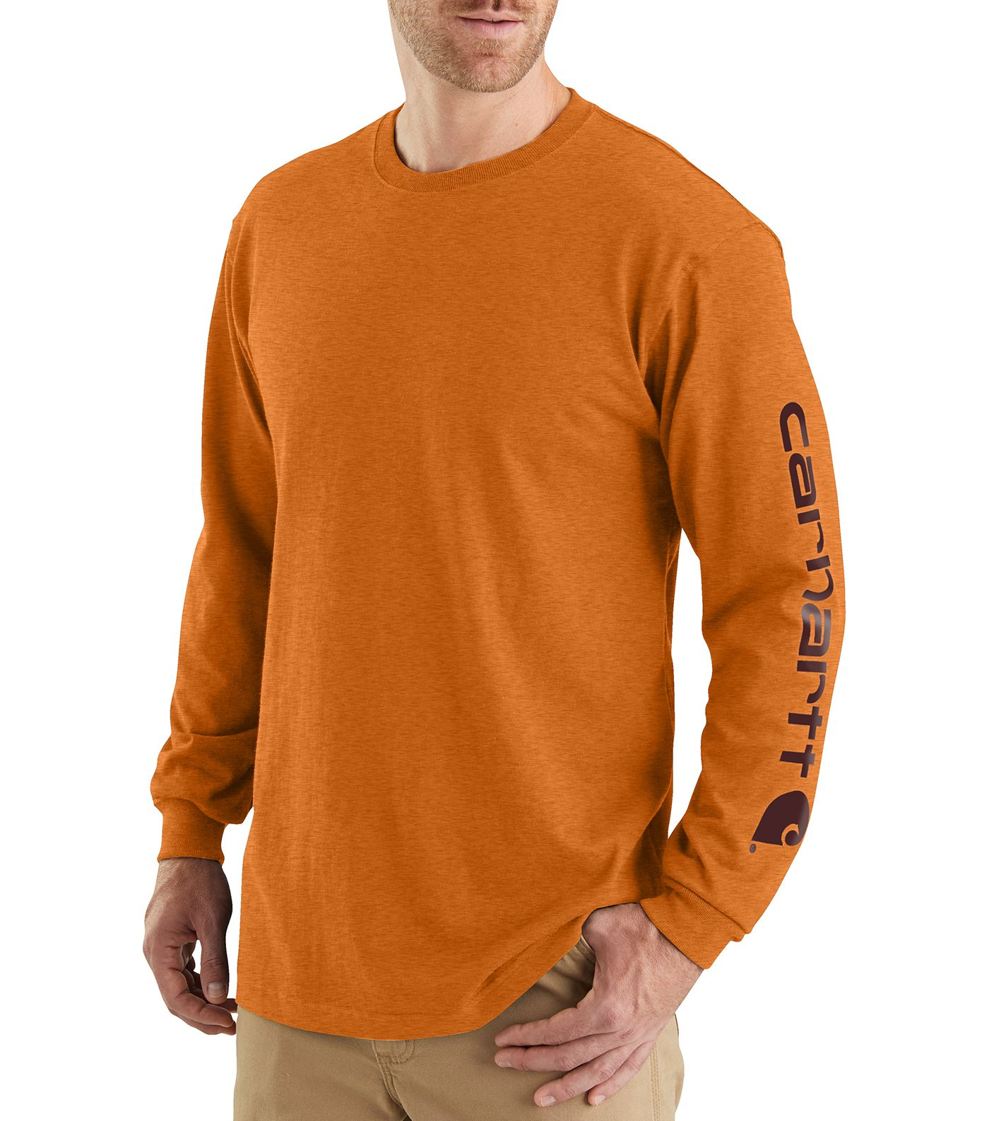 Carhartt Men's Graphic Logo Long Sleeve Shirt (Regular and Big & Tall)