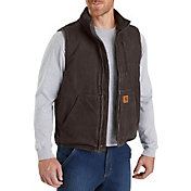 Carhartt Men's Sandstone Mock Neck Vest (Regular and Big & Tall)