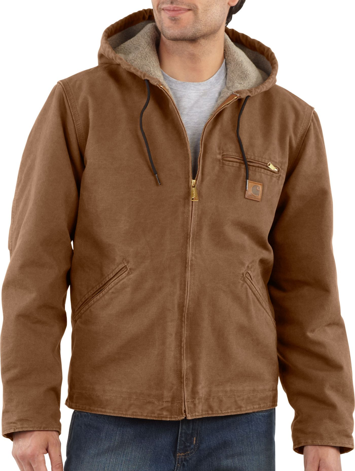 Carhartt Men's Sherpa Lined Sandstone Sierra Jacket (Regular and Big & Tall)