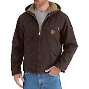Carhartt Men's Sherpa Lined Sandstone Sierra Jacket (Regular and Big & Tall)