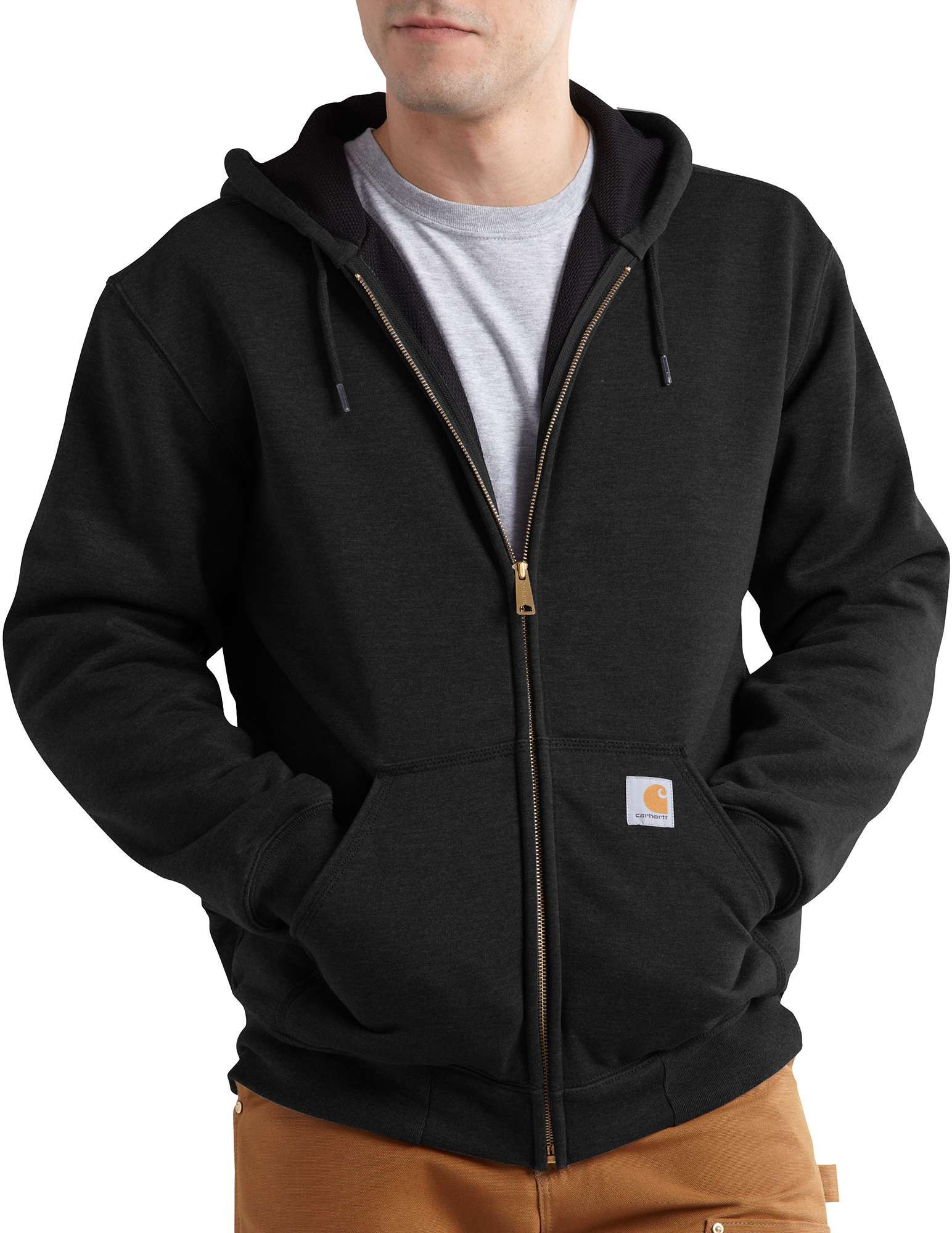 Carhartt Men's Rutland Thermal Lined Hoodie, Size: Small, Black thumbnail