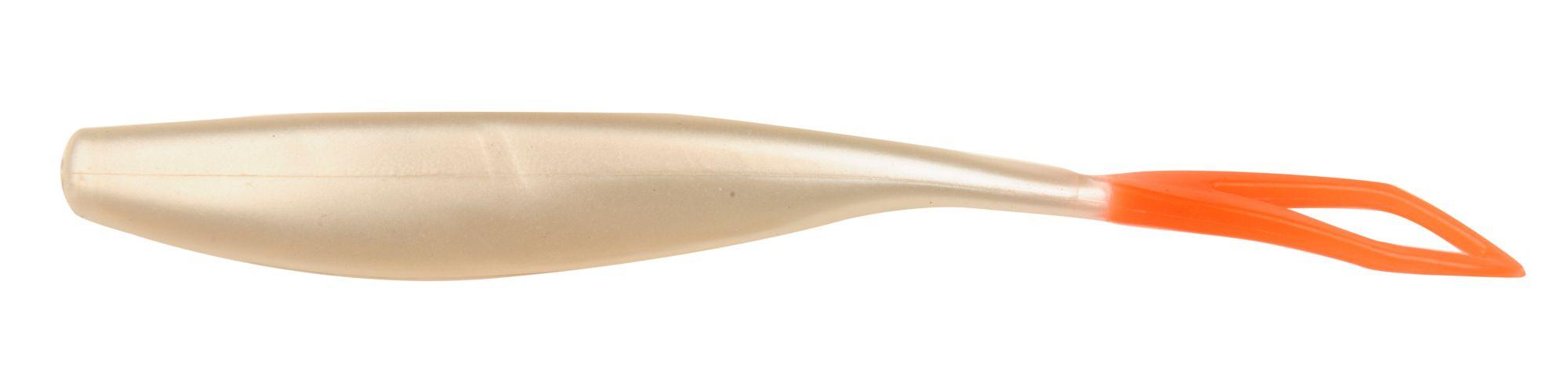 D.O.A. C.A.L. Jerk Soft Baits, 5 1/2 IN., Pearl/fire Tail