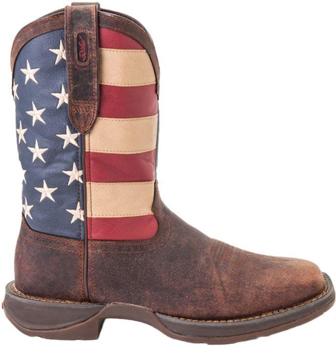 b887bf4addf Durango Men's American Flag Pull-On Western Work Boots