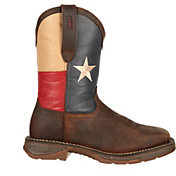 "Durango Men's Rebel Texas Flag 11"" Waterproof Steel Toe Western Work Boots"