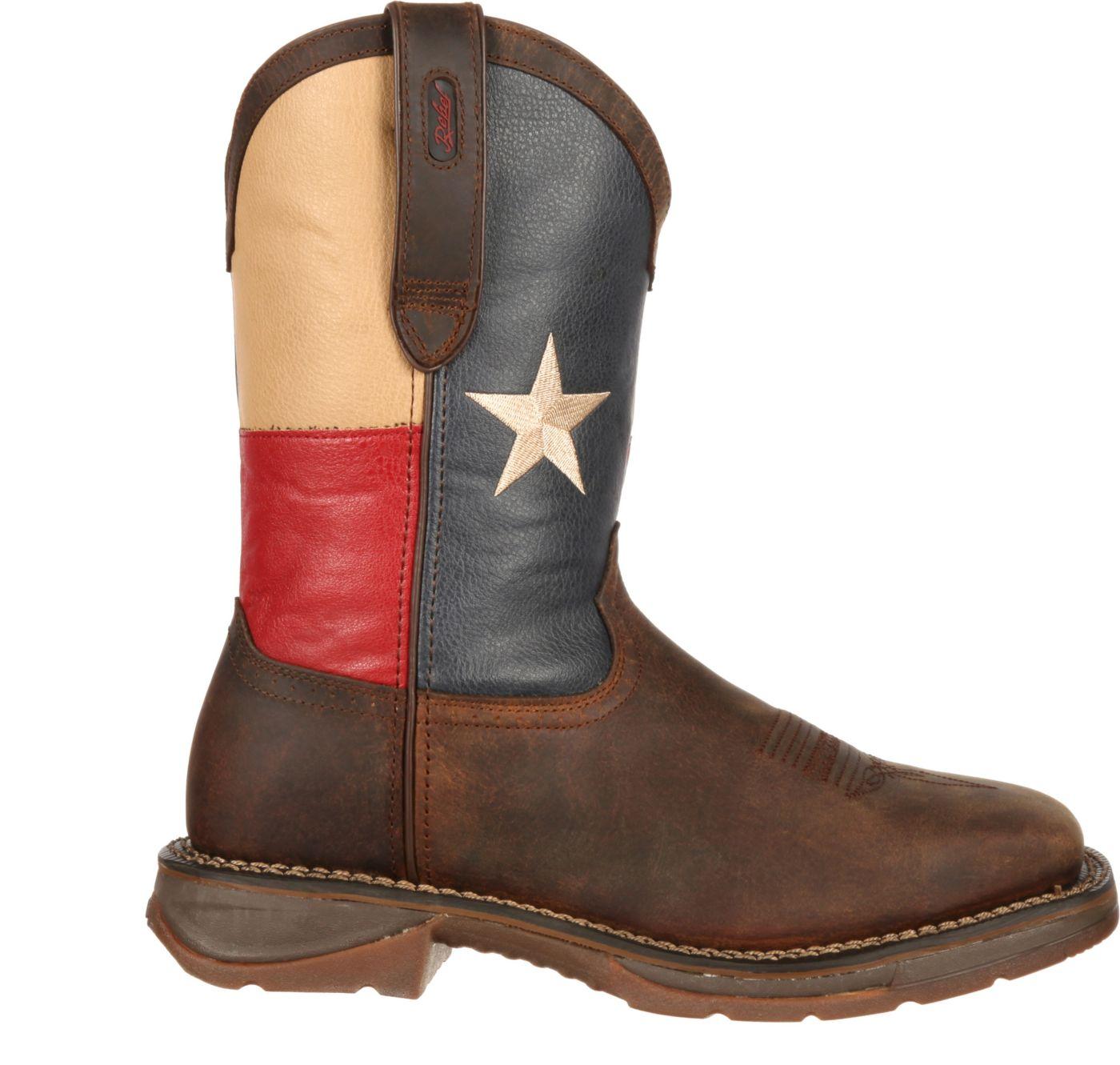 """Durango Men's Rebel Texas Flag 11"""" Waterproof Steel Toe Western Work Boots"""